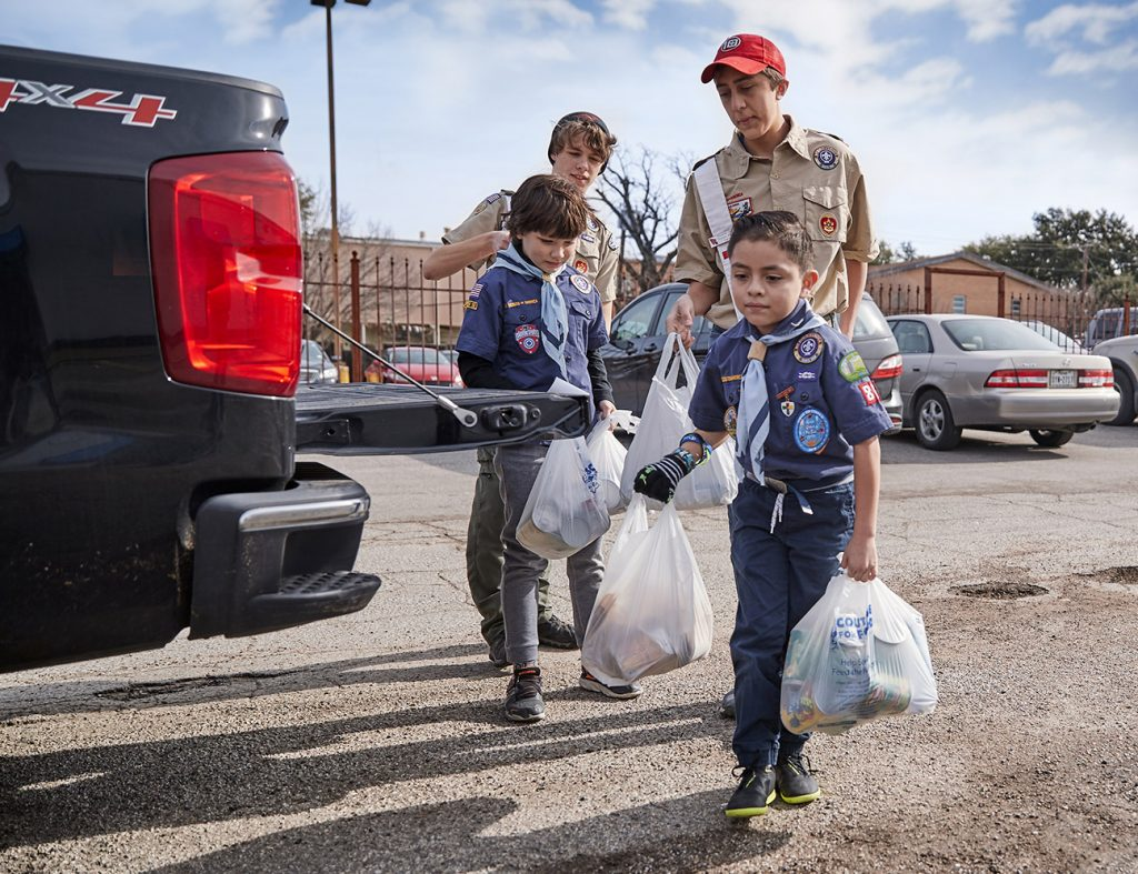 Scouting for Food Drive Community Service Group