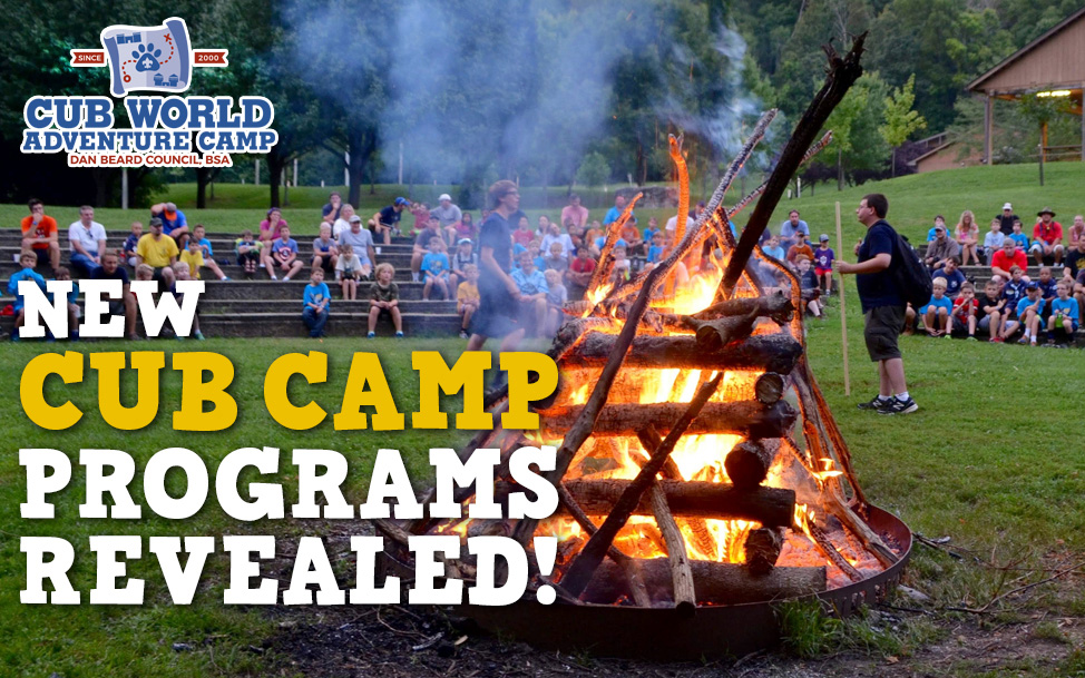 Cub Camp Program reveal graphic 1